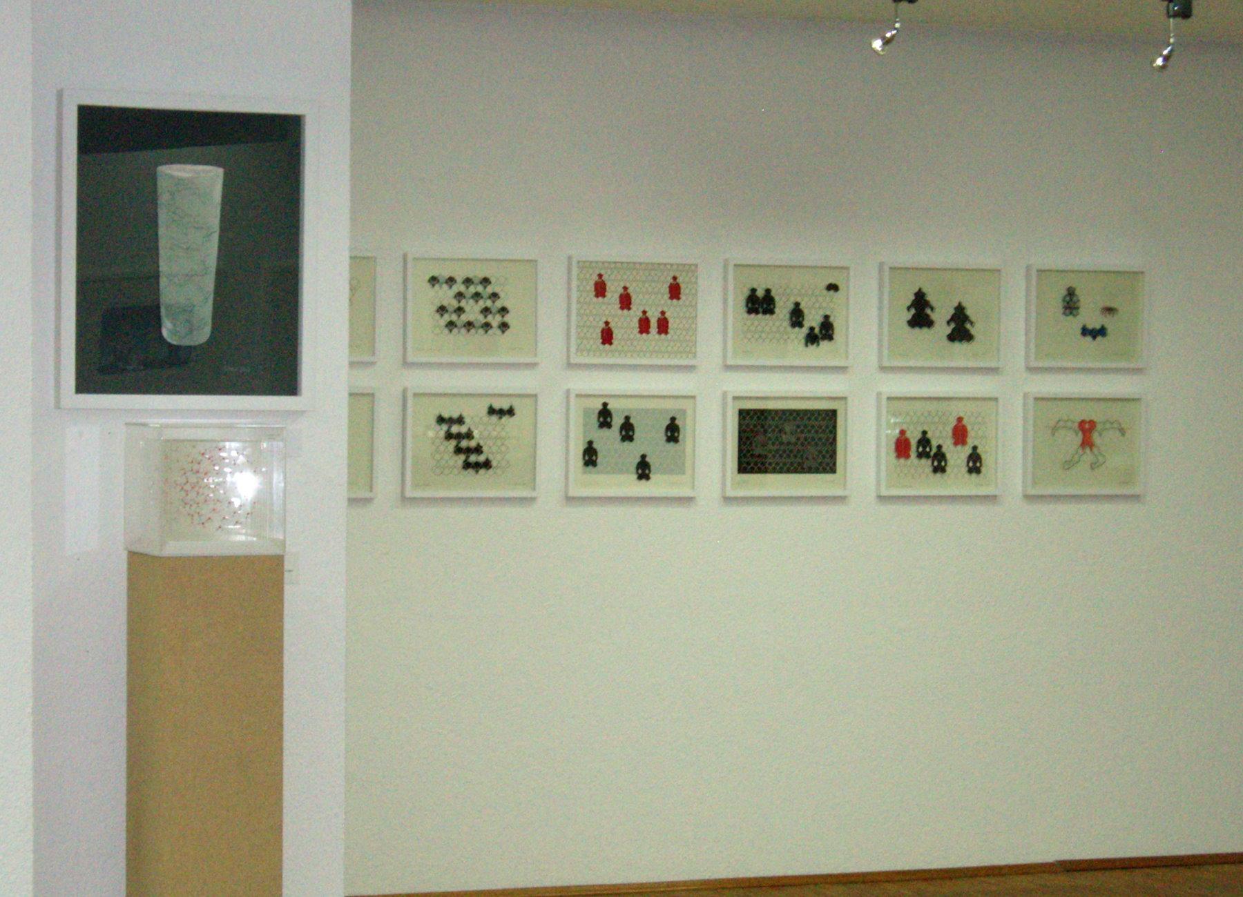 Blick auf Galeriewand rechte Seite