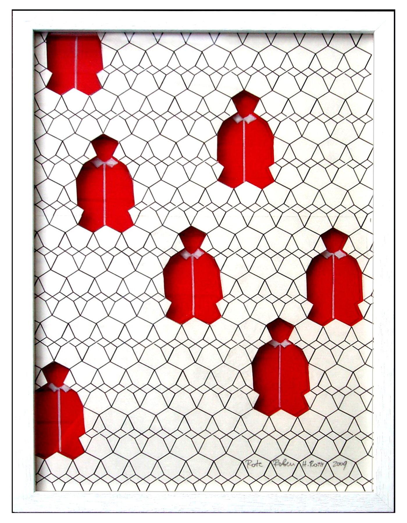 Rote Roben im Diamantgitter