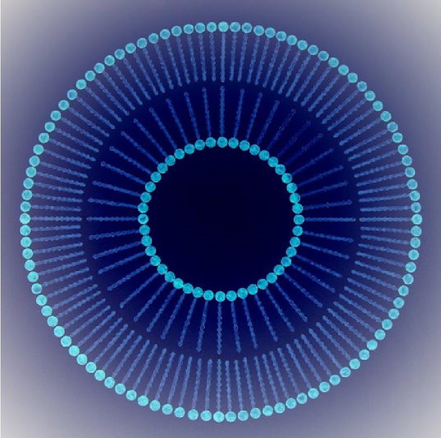 Liposom invers - blau