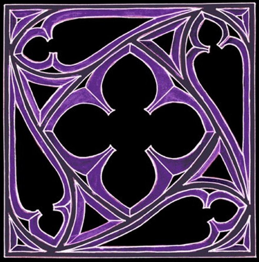 Gotisches Fenster - invers - farblich verfremdet