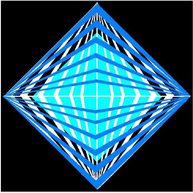 Kristall - invers - blau