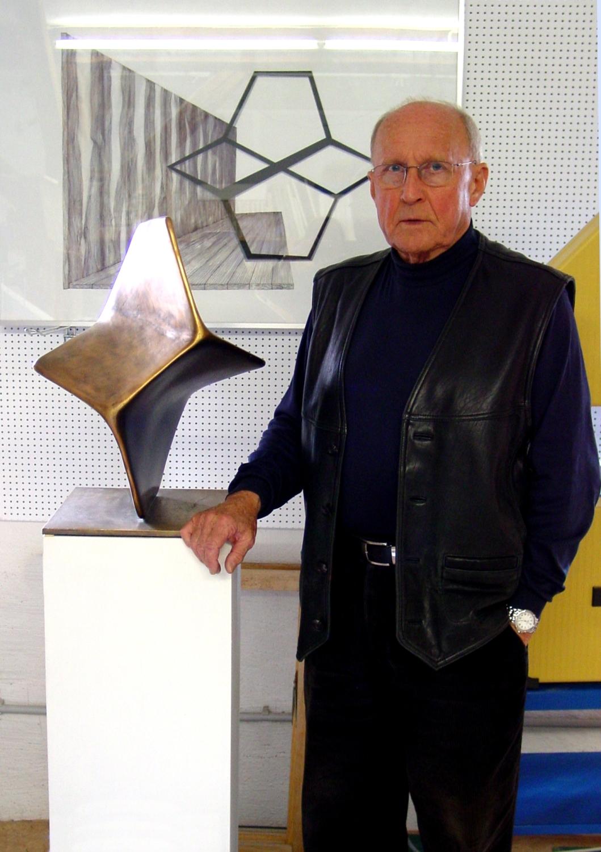Hermann J. Roth im Atelier